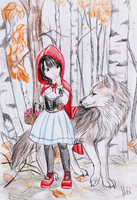 Little red riding hood by Thanisan