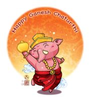 Happy Ganesh Chatirthi by In-Sine