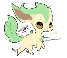 Leafeon sparklie by Under-A-Puddle