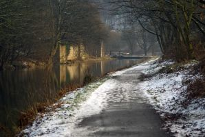 Calder Canal Winter Evening by andyf451