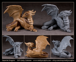Imperial Dragons by emilySculpts
