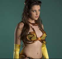 slave leia cosplay 6 by tethras