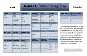 M.A.S.H- Character Edition by michelle-echidna