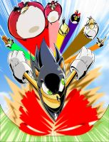 Sonic VS The Angry Birds by BullyEater