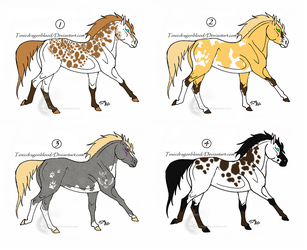 Horse Adoptables CLOSED by NeonFlamez