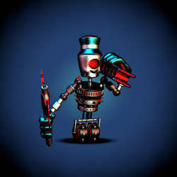 Fnaf world Fanmade Enemies : The Metal Cychops by Popi01234