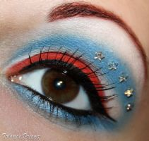 Captain America inspired make up by Talasia85
