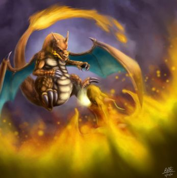 Charizard vs Dragonite by the-speed-demon