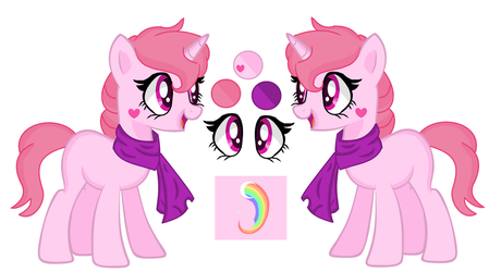 mlp Angel (Chi little sister)  reference sheet by CreativePony7