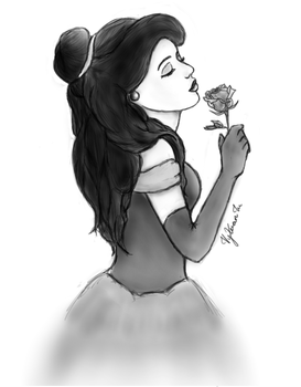 Belle - Beauty and the Beast (Shaded) by CauseLife