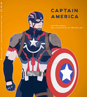 My take on Captain America - Poster by JYassArt