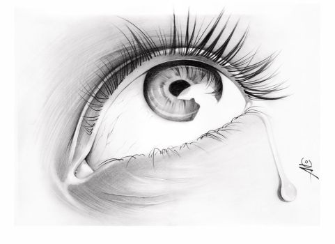 Crying grafite - graphite by alexdesenho