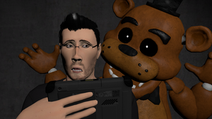 Markiplier and Freddy by Detective-Puppet