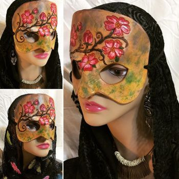Spring Lady Leather Mask by aGrimmDesign