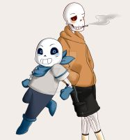 Underswap: Skeleton Bros by itsthebitch