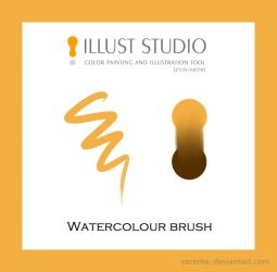 Illuststudio Watercolour Brush by Escente