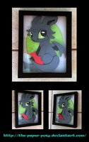 Chibi Toothless Shadowbox by The-Paper-Pony