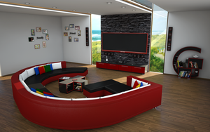 Google plus Living room by slographic