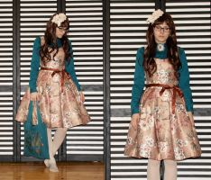 Floral tapestry dress by zeloco