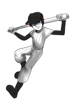 Nicob As The Batter by Cainmak