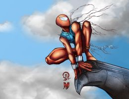 Scarlet Spiderman Coloured by DeathRattleSnake