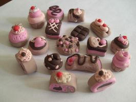 set of cakes and cookies fimo by elfaaa
