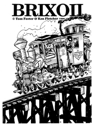 BRIXOII (#2) zine cover (toon steam engine) by KenFletcher