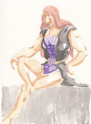 Vanilla Ice Watercolor Loose Sketch by GiraffeMeow
