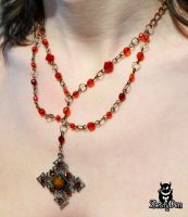 Red Earth Vintage Necklace by zestyden