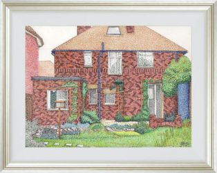 Pointillism House by LauraHolArt