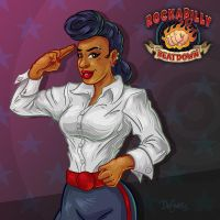 Jenna Von Jett, Rockabilly Beatdown by SuperEdco