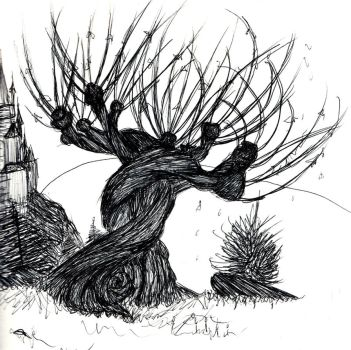 The Whomping Willow (study 2018) by Unfini