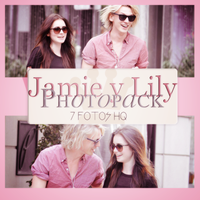 Photopack Jamie C. B. y Lily Collins 001 by DiamondPhotopacks