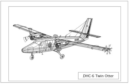 DHC-6 Twin Otter Outline by LuigiLA