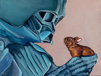 Darth Vader with small Baby Bunny (version 2) by TrampLamps