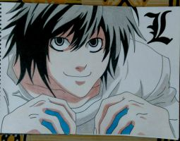 L- Death Note by phkfrost