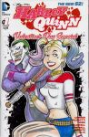 Animated Joker and Harley Quinn Sketch Cover by sullivanillustration