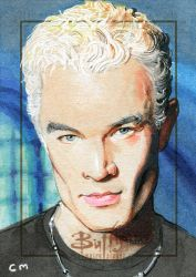 Spike sketch card for Rittenhouse Buffy card set by Kapow2003