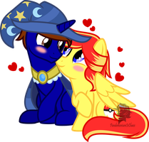 Commission: Happy Valentine's Day -Adorable couple by TheArtsyEmporium