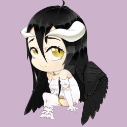 HappyMahogany 168 54 Anime Chibi Fan Art Albedo Overlord Paint Tool Sai By ChibyVersity