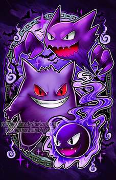 Gengar Family by RetkiKosmos