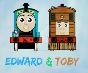Edward and Toby Sketch by TankEngineNinja