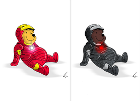 Iron Pooh // Winnie Machine by Spenot