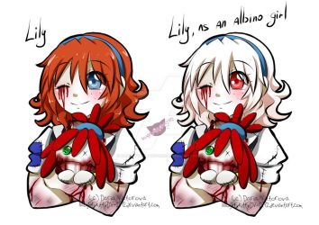 Lily and albino Lily by NaughtyKittyDV-1992