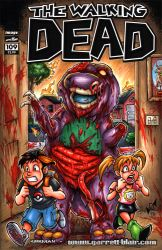 Barney the Undead Dinosaur sketch cover by gb2k