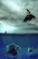 Monsters Of The Sea by Coeurdeloup