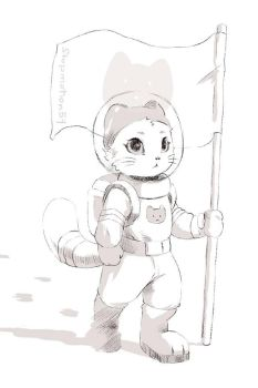 The astronaut by FireEagle2015