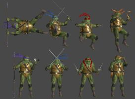 TMNT Pose Pack by WildGold