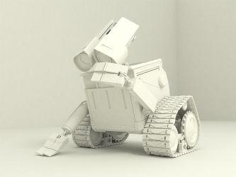 Wall E in Sketchup by Norke