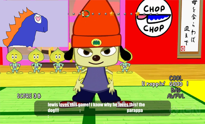 Lewis Plays Parappa The Rapper by dinosaursaremyhero